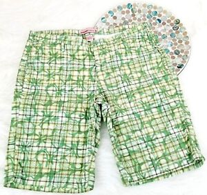 724b1e1d60 Duck Head Womens Shorts 7 Green Plaid Floral Long Bermuda Khakis ...