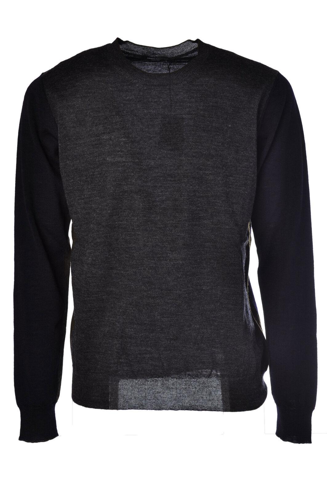 Roberto Collina - Knitwear-Sweaters - Man - Grau - 473811M184405