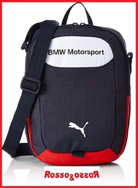 b01733b720 Borsa Borsello a Tracolla BMW Motorsport da Uomo Donna Unisex Blu 29 x 23 x  7