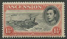 Ascension Island SG40 1938 1½d black & vermillion P13.5