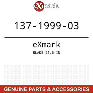 Exmark 137-1999-03 21.6 Inch Blade Quest E Series