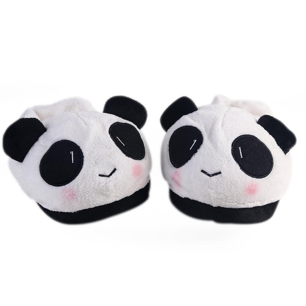 (US) Domestique Pantoufles Panda Mignon Doux Style Chaussures Intérieur Chaud