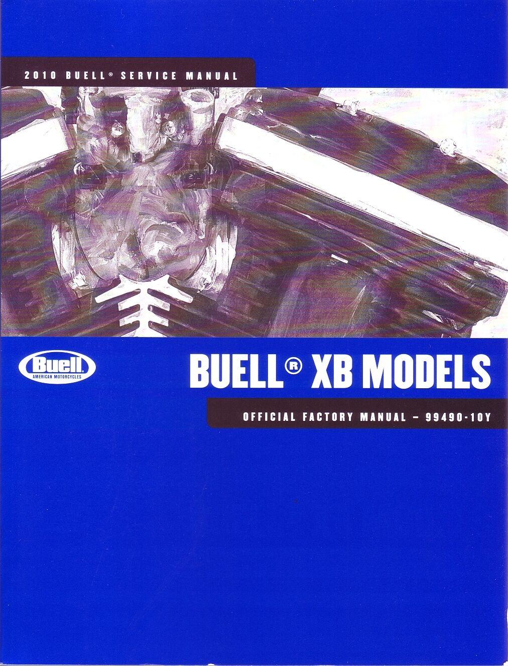 HARLEY-DAVIDSON BUELL Werkstatthandbuch 2010 XB12R Firebolt Buch 99490-10Y Neu