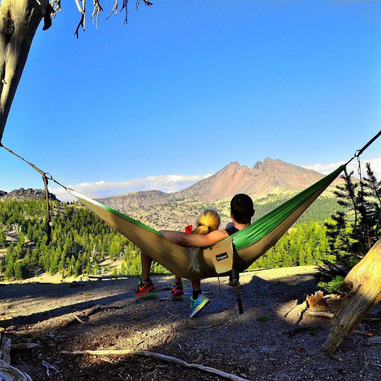 Hamacas Colgantes Doble Para Camping yJardin Hamaca Parachute Portatil De Viaje