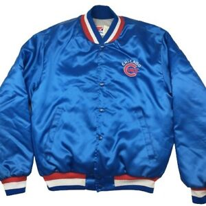Vintage Chicago Cubs Men's Large Blue Red Satin Swingster Starter Style Jacket