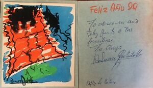 Ruben-Suarez-Quidiello-postcard-with-painting-1989-Original-signed