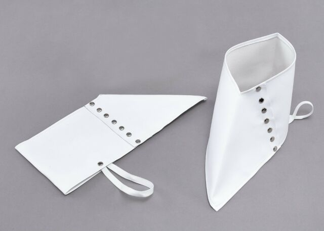 White Gangster Spats 1920s Fancy Dress Costume Shoes Accessory Michael Jackson
