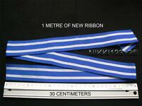 FULL SIZE 1 METRE OF NATO NON ARTICLE 5 ISAF AFRICA NTM IRAQ MEDAL RIBBON