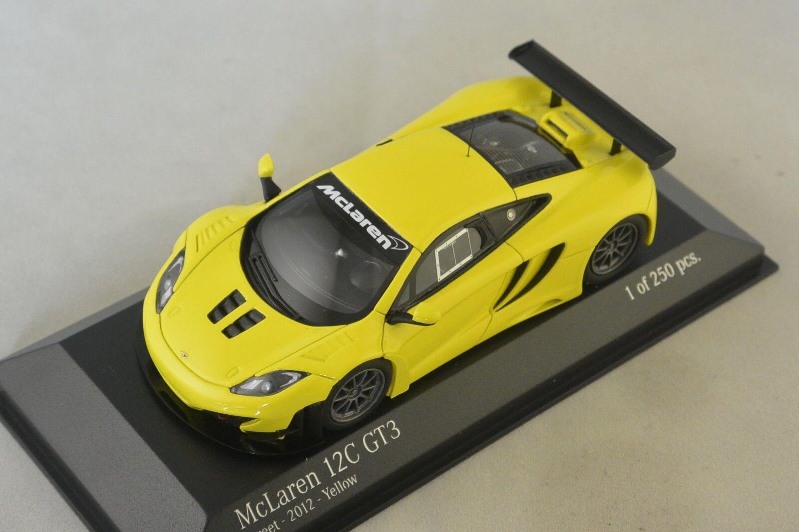MINICHAMPS 437121396 -  MCLAREN MP4 12C GT3 STREET - 2012 - JAUNE  1 43