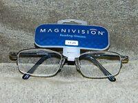 Magnivision Apex 1.25 Gray Reading Glasses