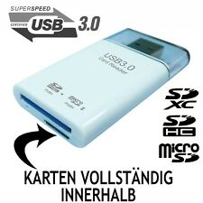 KARTENLESER CARD READER USB 3.0 SDXC SDHC SD MICROSD ADAPTER STICK