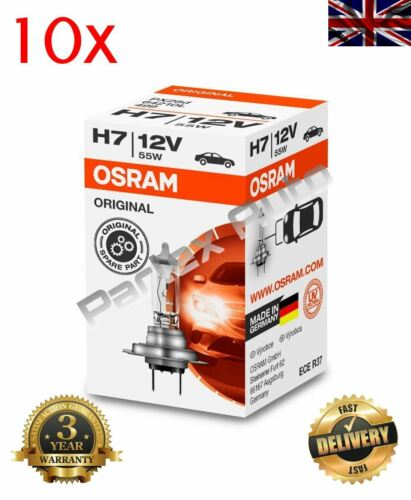 10X OSRAM #OE 64210 ORIGINAL #GERMAN QUALITY HALOGEN HEADLIGHT BULB  12V H7 55W