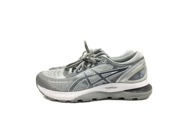 ASICS Womens Gel-Nimbus 21 Grey Running Shoes Size 8.5 Wide