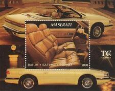 LUXURY CLASSIC CAR MASERATI PLUSH INTERIOR 2000 MNH STAMP SHEETLET