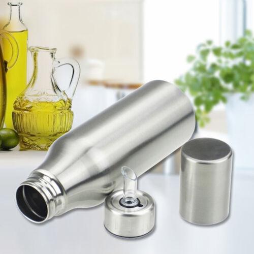 Essig Cruet Flasche Speiseölbehälter 500ml Edelstahl Olivenöl