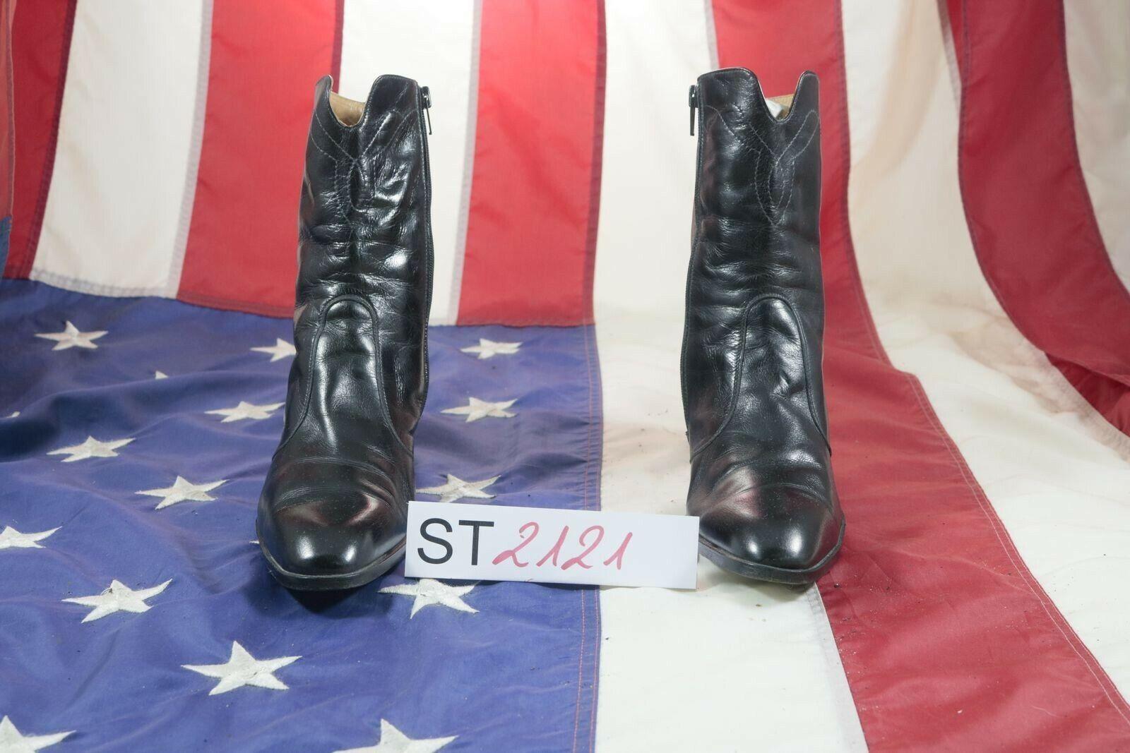 Stivali Conc Marini boots (Cod. ST2121) USATO N.39 women pelle cowboy texani