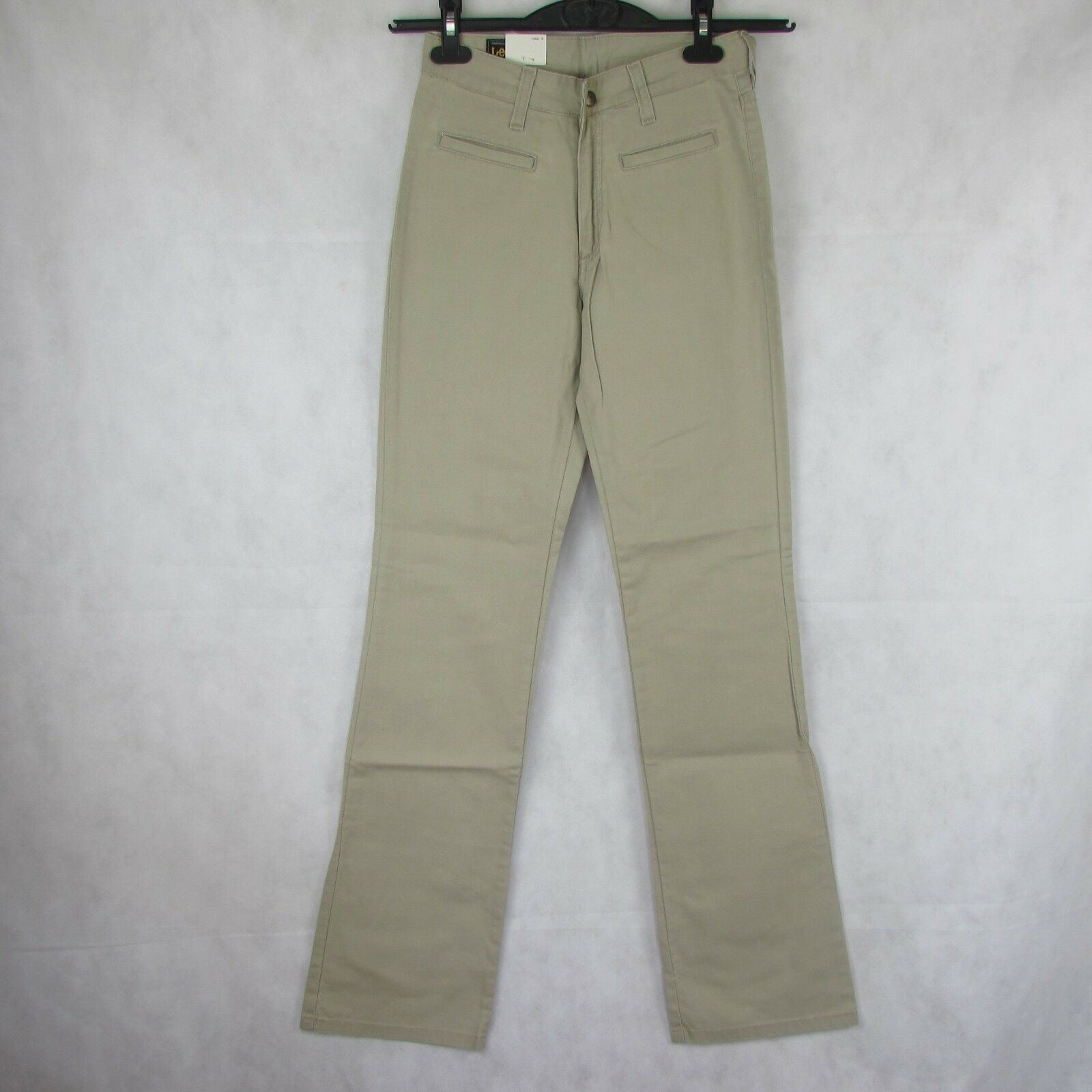 VTG LEE RIDERS BEIGE NWT W28 L33 WOMENS JEANS STRETCH SLIM FIT ZIP FLY BOOTCUT