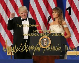 Customized-President-Donald-amp-Melania-Trump-Signed-8x10-Photo-FREE-SHIPPING