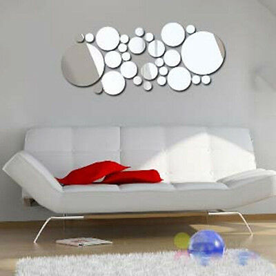 Hot Fashion Removable Home DIY Decoration Mirror Wall Decals Art Stickers Silver