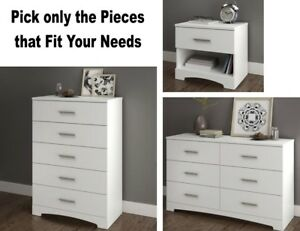 Details about White Bedroom Furniture Sets Dresser Nightstands Chest  Dressers Drawer Set NEW