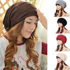 Unisex Winter Plicate Baggy Beanie Knit Crochet Ski Hat Oversized Cap Hat Warm