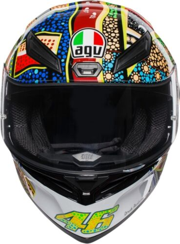 Casco integrale moto Agv K-1 K1 Valentino Rossi Dreamtime stickers adesivi