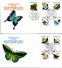 1983 Australian Animal Series III Butterflies on 2 FDC's - Albany WA 6330 PMK