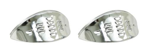 VW Air Cooled Bug Chrome Louvered Headlight Eyebrows Pair