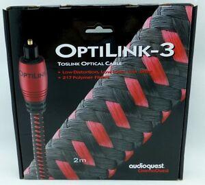 Audioquest OptiLink-3 2 meter Digital Toslink Fiber Optic Cable