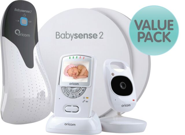 ORICOM SECURE 710 VIDEO BABY MONITOR+BABYSENSE 2 INFANT RESPIRATORY PACK