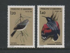 French Andorra - 1981, Nature Protection, Birds set - MNH - SG F313/14