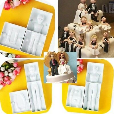 Woman/Man/Child Cake Topper Decorating Fondant Sugarcraft Cookie Cutter Mould #T