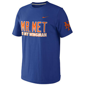 "best loved e9fd9 7ab96 Details about New York Mets Nike ""Mr. Met Is My Wingman"" T-Shirt Men's  Small Large BNWT!"