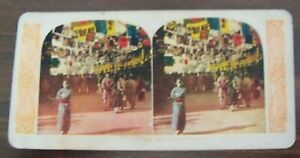 World-Series-Stereoview-182-Theater-Street-a-Mile-Long-in-Osaka-Japan