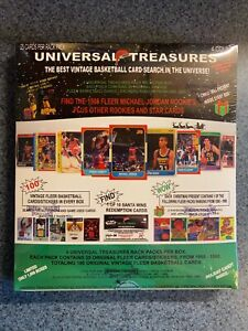 HOT CASE Universal Treasures Fleer Basketball SEALED BOX! 1986 Jordan RC 1 in 5