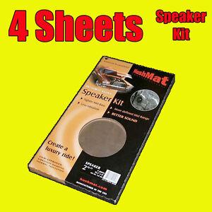 Image is loading Hushmat-Speaker-4-Sheets-Car-Door-Deadening-Vibration-