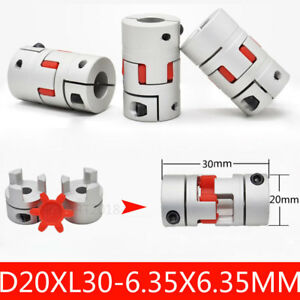 6-35mm-to-6-35mm-Shaft-Motor-Coupler-Plum-Coupling-Spider-Jaw-D20XL30MM