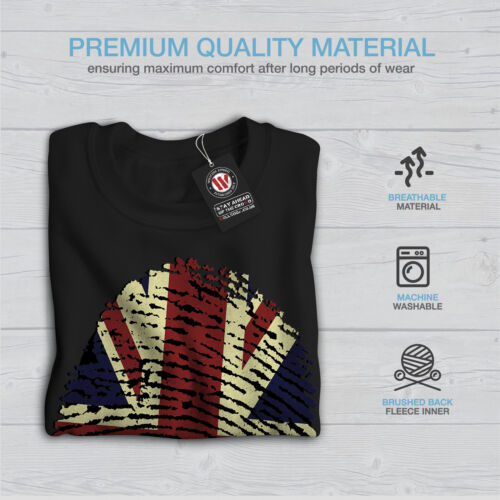Union Casual Pullover Jumper Wellcoda British Fingerprint Mens Sweatshirt