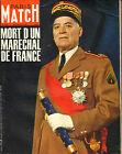 PARIS MATCH N°930 alphonse juin farah diba courreges jean claude killy 1967