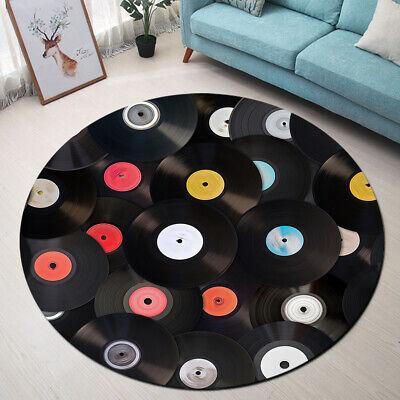 Retro Vinyl Records Theme Round Floor Mat Bedroom Carpet Living Room Area Rugs Ebay