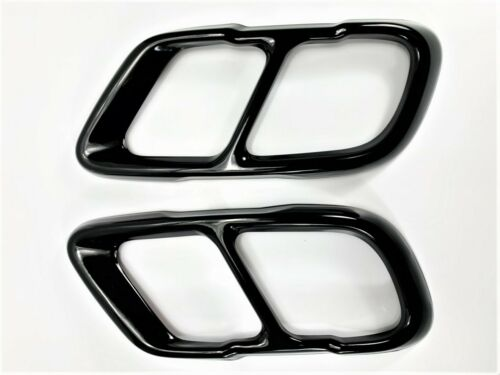 Gloss Black Stainless Exhaust Muffler Tip Cover Cap Outlet FOR 19-20 X5 X7 G05