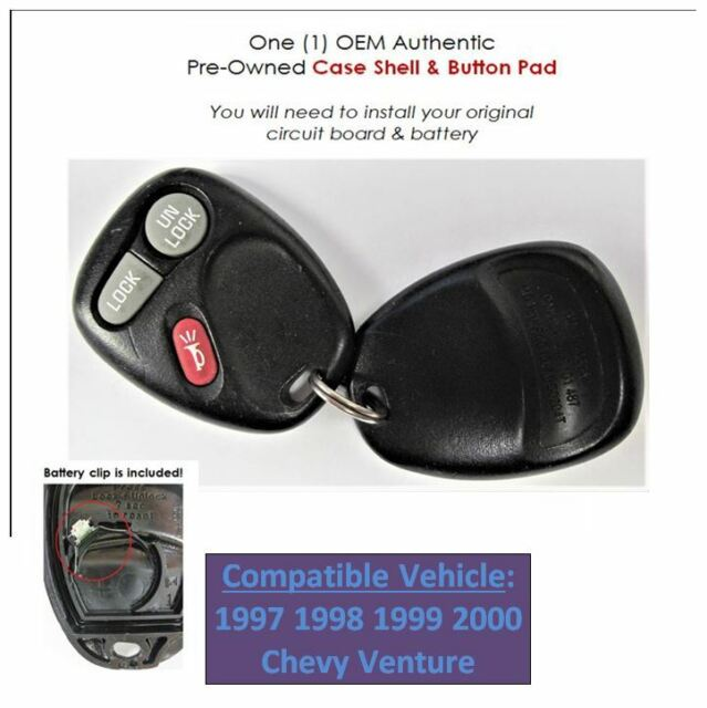 Keyless Remote Shell Replacement Case 97 98 99 00 Venture Phob Control Oem Fob