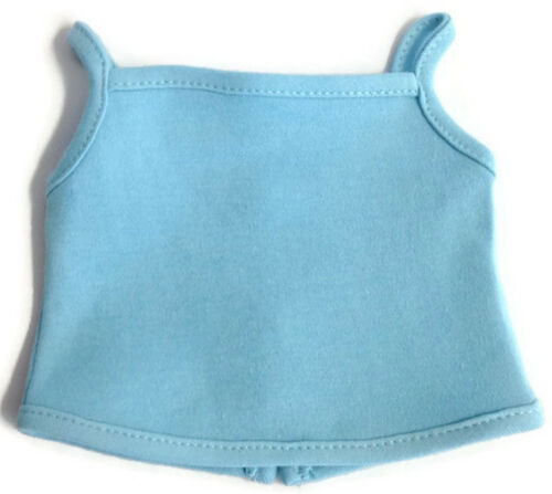 Light Blue Knit Tank Top Shirt made for 18 American Girl Doll Clothes