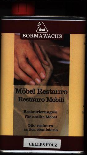 L Möbel Restauro Borma Wachs,Restaurierungsöl Helles Holz,Grundpreis:23,90 €