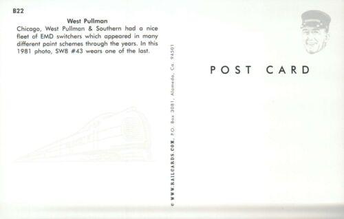 West Pullman W.P /& Southern,EMD Switcher 1981 Railroad Train Postcard Chicago