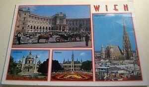 Austria-Wien-Multi-view-Rathaus-Stephansdom-545-posted-1998