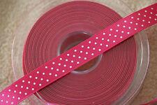 5932 #15 BEAUTIFUL RED Berisfords Satin Polka Micro Dot Spotty Ribbon 15mm
