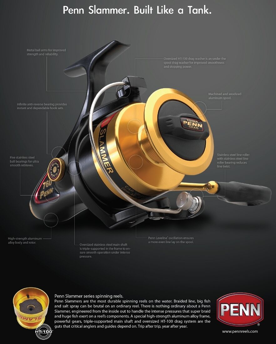 Penn Slammer 460 + 500m PERFORMANCE 0,24 mm Sufix PERFORMANCE 500m PRO 8 19kg 4723dd