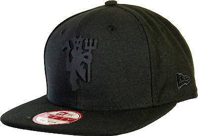 low priced e9a77 baa2c Details about Manchester United All Black Bob Devil New Era 9Fifty Snapback  Cap