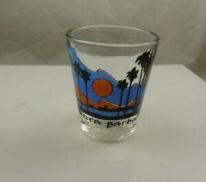 shot glass Santa Barbara souvenir collectible beach sunset palm trees